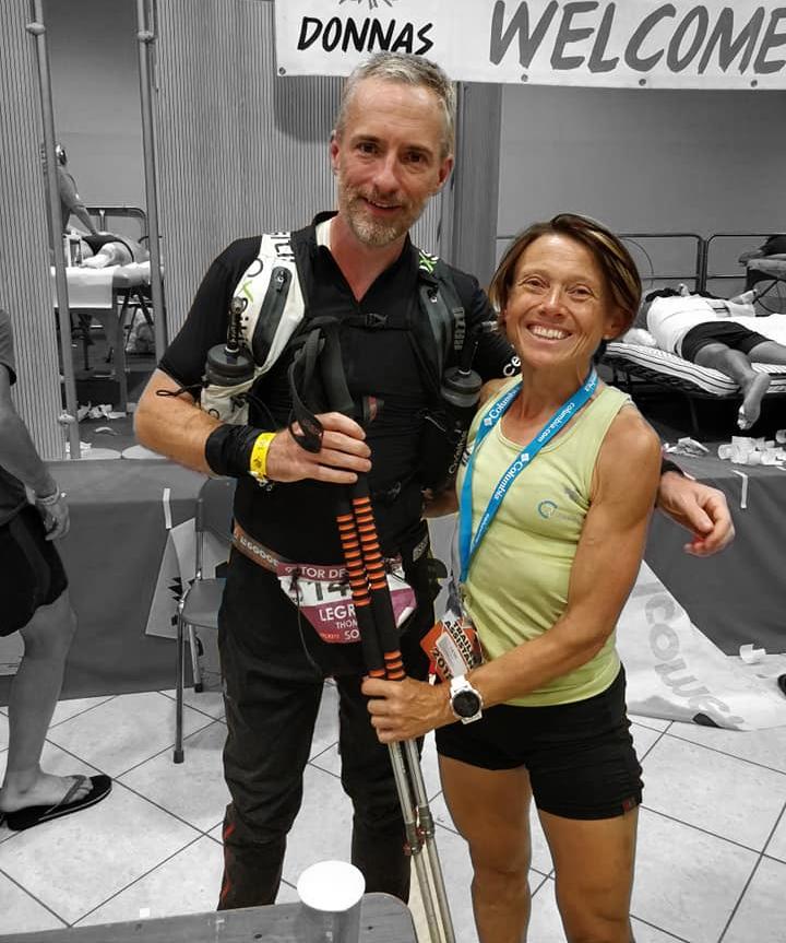 Thomas Legrain retrouve Nathalie Mauclair à Donnas, km 150