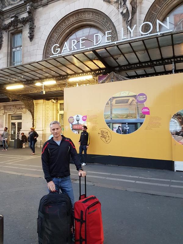 J-2, 7h gare de Lyon.  En route pour Courmayeur