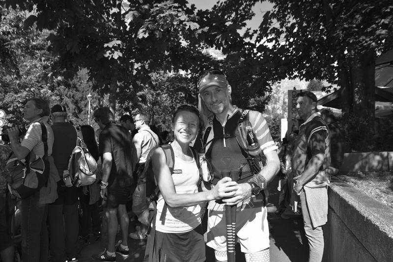 09/09/18 : Thomas Legrain sur la ligne de départ aux côtés Nathalie Mauclair - Courmayeur